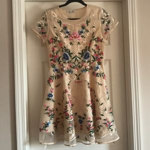 Chicwish floral embellished dress